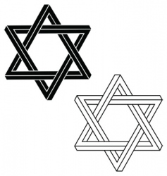 Jewish star of david vector image vector image