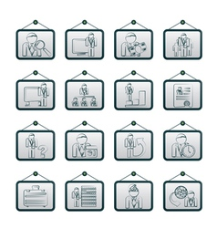 management and hierarchy icons vector image vector image
