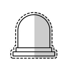 single beacon or siren icon image vector image
