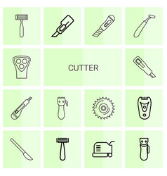 14 cutter icons vector