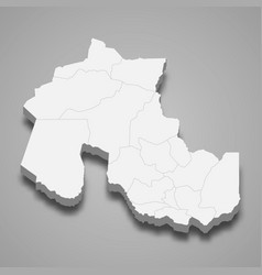3d isometric map jujuy is a province vector