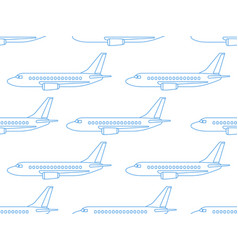Aeroplane contour pattern vector