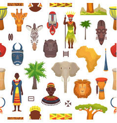 African culture characters in traditional vector