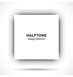 Black Abstract Halftone Design Element vector