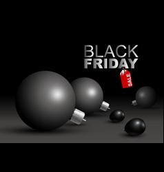 black friday sale design of big christmas ball vector image