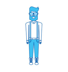 Blue icon body man vector