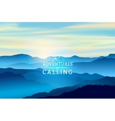 Blue Sunrise in the mountains - Background vector image