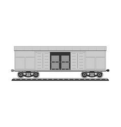 boxcar with freight vector image