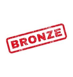 Bronze Text Rubber Stamp vector
