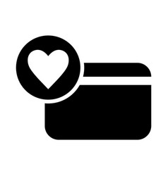 Card with heart icon vector