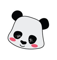 Cartoon portrait of a panda stylized grizzly bear vector