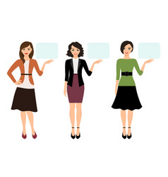 cartoon teacher woman presentation vector image