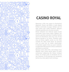 casino royal line pattern concept vector image