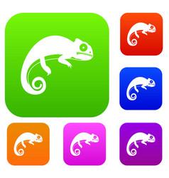 Chameleon set collection vector