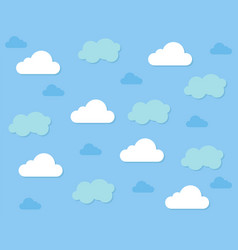 cloud pattern background vector image