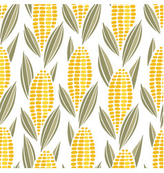 corn cob maize seamless pattern vector image