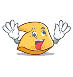 Crazy fortune cookie mascot cartoon vector