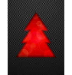 Creative Christmas tree cut in black background vector image