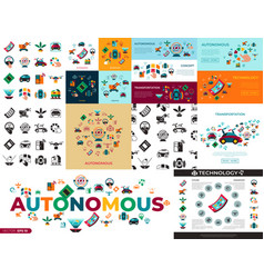 digital autonomous transportation vector image
