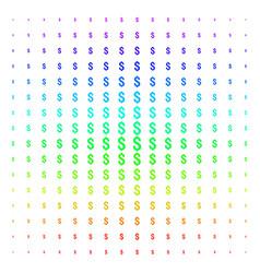 dollar shape halftone spectral grid vector image