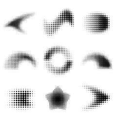 Dot gradient design elements vector