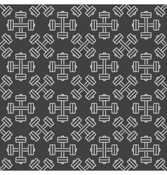 Dumbbell dark seamless pattern vector