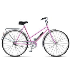 Female Bicycle vector image