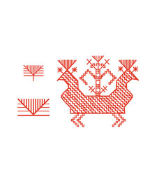 Finnish ornament design elements vector