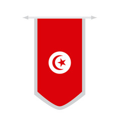 flag of tunisia on a banner vector image