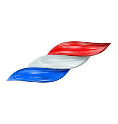 france flag as realistic hair volume colorful flow vector image