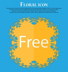 Free sign icon Special offer symbol Floral flat vector