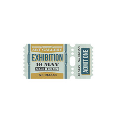 Full ticket art gallery exhibition isolated coupon vector
