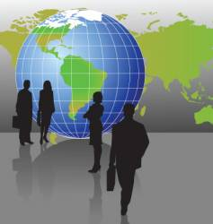 globe figures vector image vector image