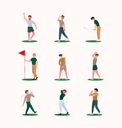 golf players recreation healthy outdoor sport vector image