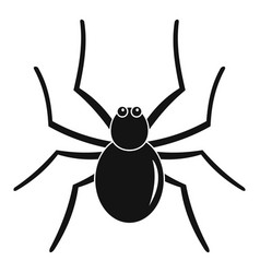 Grass spider icon simple style vector