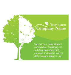 green tree template vector image