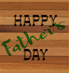 happy fathers day handwritting lettering on vector image
