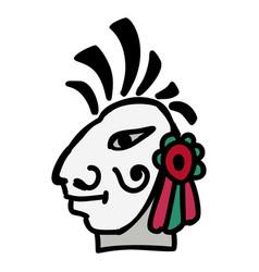 head icon aztec vector image