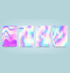 Hologram bright colorful background set vector