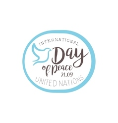 International Peace Day Label Designs In Pastel vector