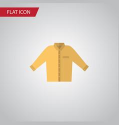 isolated shirt flat icon banyan element vector image