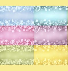 Lights backgrounds collection vector