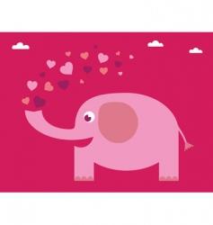 love elephant card vector image