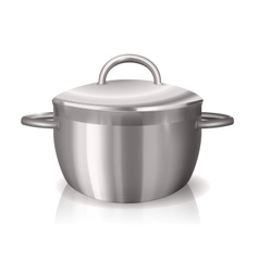 metal pan vector image