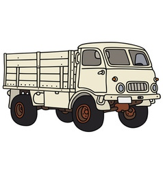 Old small terrain truck vector image