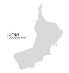 oman map country land icon world part vector image
