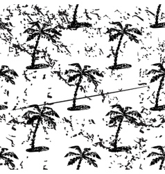 Palm tree pattern grunge monochrome vector