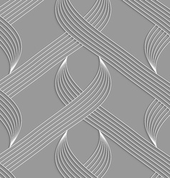 Paper cut out striped shapes vector