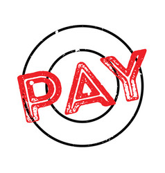 Pay rubber stamp vector