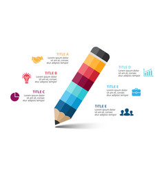 Pencil infographic education diagram vector
